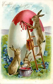 easter bunnies painting